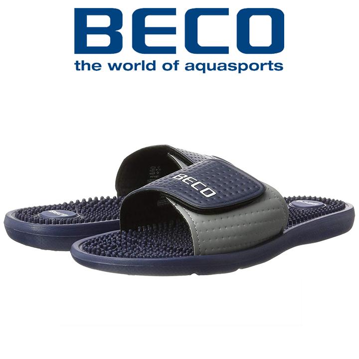 Тапочки массажные мужские BECO 90617 7 тёмно-синий/серый