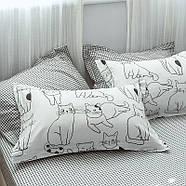 """Комплект постільної білизни """"Котики"""" (двоспальний євро), фото 3"""