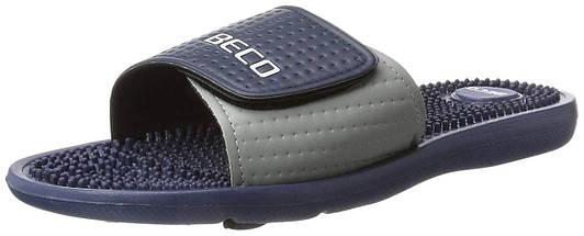Тапочки массажные мужские BECO 90617 7 тёмно-синий/серый, фото 2