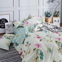 """Комплект постельного белья """"Нежные цветы"""" (двуспальный-евро), фото 1"""