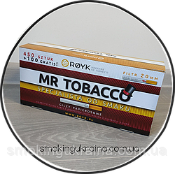 Гильзы для набивки сигарет MR TOBACCO 550шт