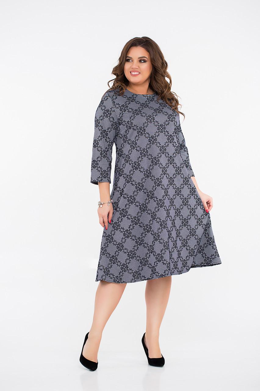 Платье  LiLove 8- 1139 58-60 серый