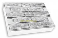 "Термопанели фасадные SunRock  ""Кирпич колотый"" 600х400х50мм Пенопласт  50мм, Белый цемент, фото 1"