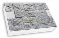 "Термопанели SunRock  ""Песчаник колотый"" 600х400х50мм Пенопласт 100мм, Белый цемент"