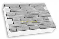 "Термопанели SunRock  ""Римская кладка"" 600х400х50мм Пенопласт 100мм, Серый цемент"