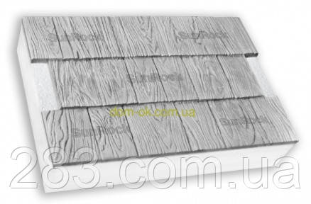 "Термопанели SunRock  ""Щепа"" 600х400х50 мм/ Пенопласт  50мм, Белый цемент"
