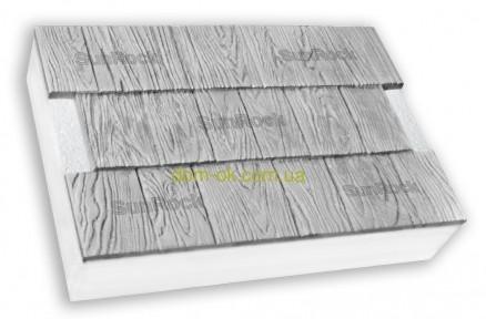 "Термопанели SunRock  ""Щепа"" 600х400х50 мм/ Пенопласт  50мм, Серый цемент"