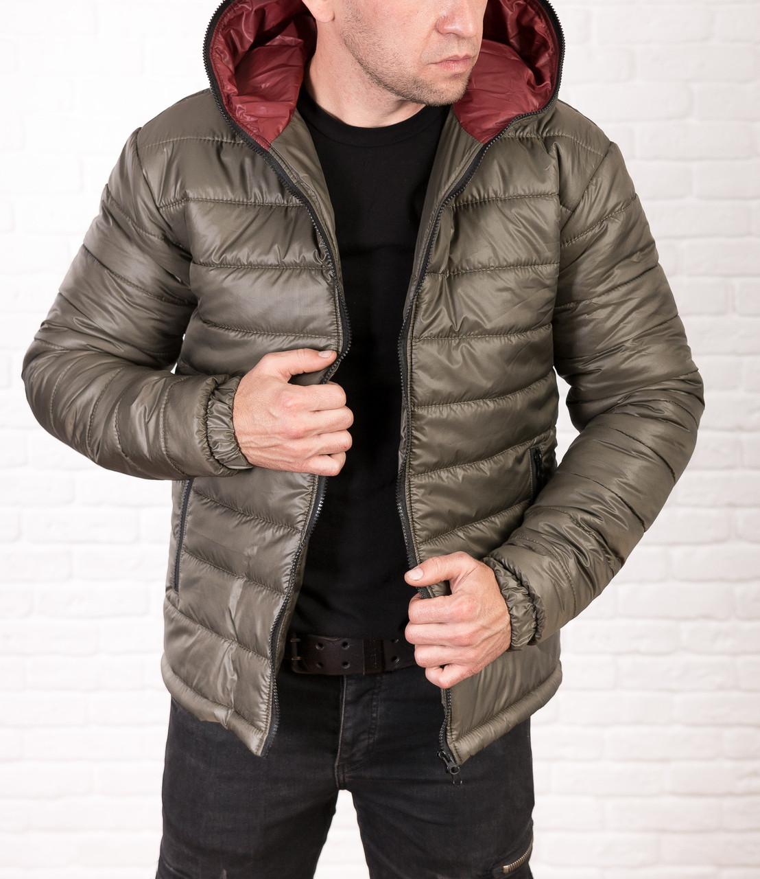 Мужская дутая куртка с капюшоном