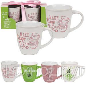 Набор 2 чашки 350 мл Tea time Snt 7156