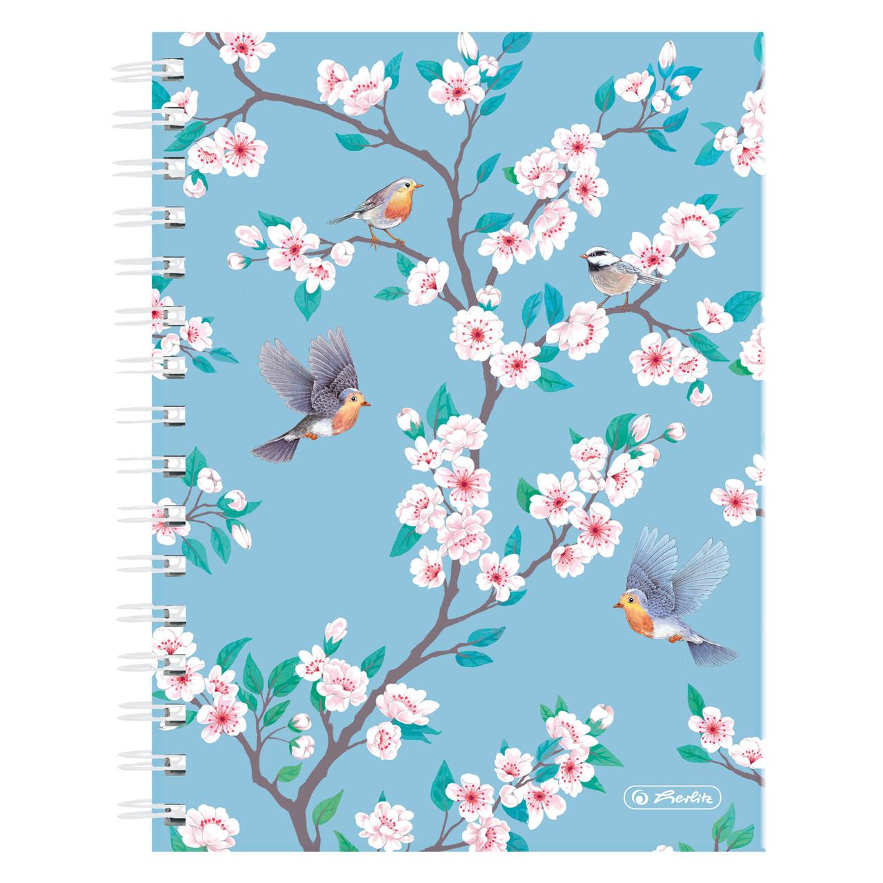 Блокнот Herlitz А5 100 листов клетка Ladylike Birds