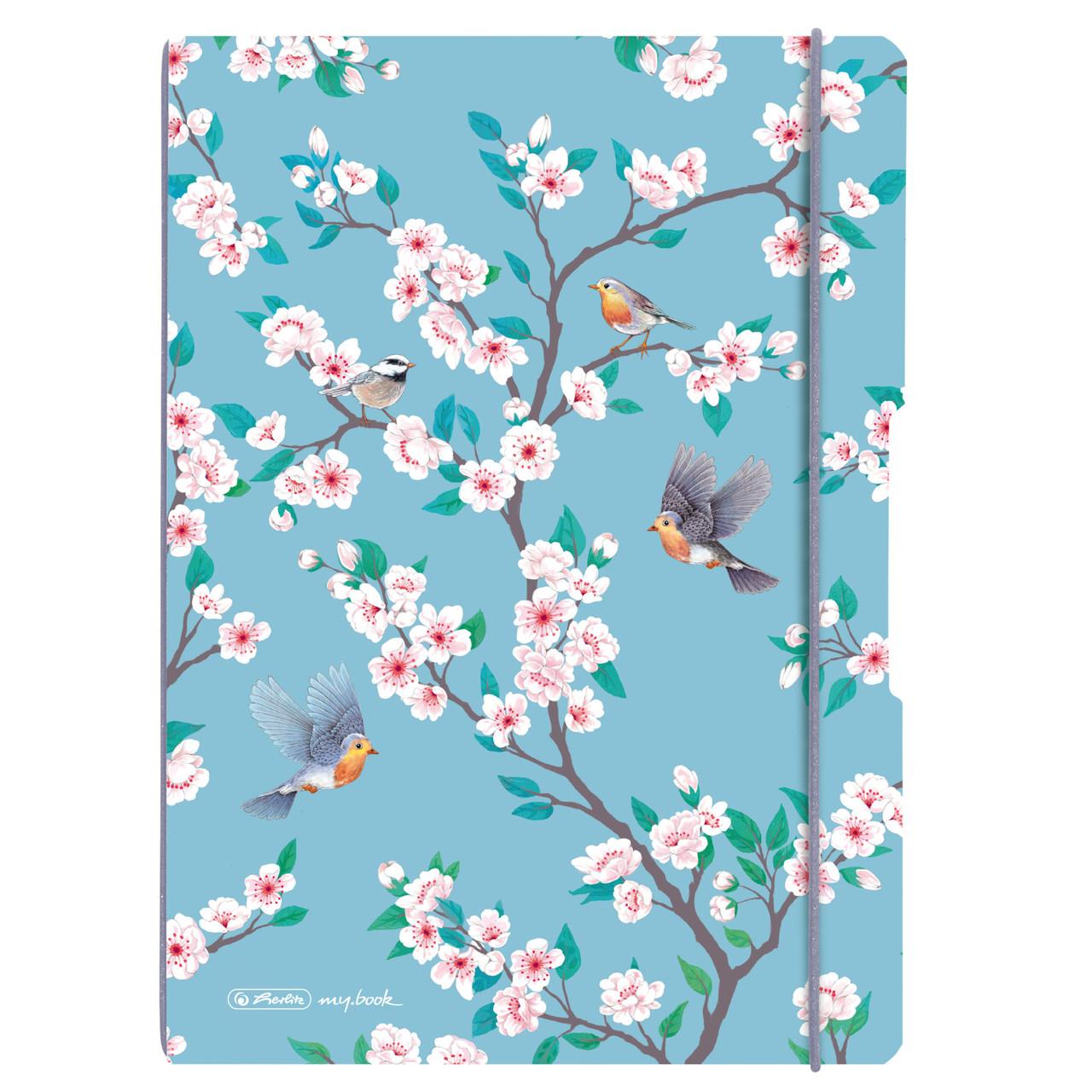 Блокнот Herlitz My.Book Flex А4 2х40 листов клетка+линия Ladylike Birds