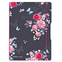 Блокнот Herlitz My.Book Flex А4 2х40 листов клетка+линия Ladylike Flowers