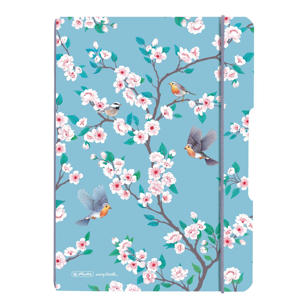 Блокнот Herlitz My.Book Flex А5 40 листов клетка Ladylike Birds