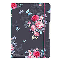 Блокнот Herlitz My.Book Flex А5 40 листов клетка Ladylike Flowers