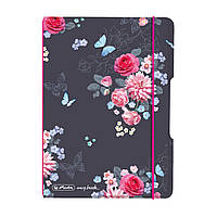 Блокнот Herlitz My.Book Flex А6 40 листов клетка Ladylike Flowers