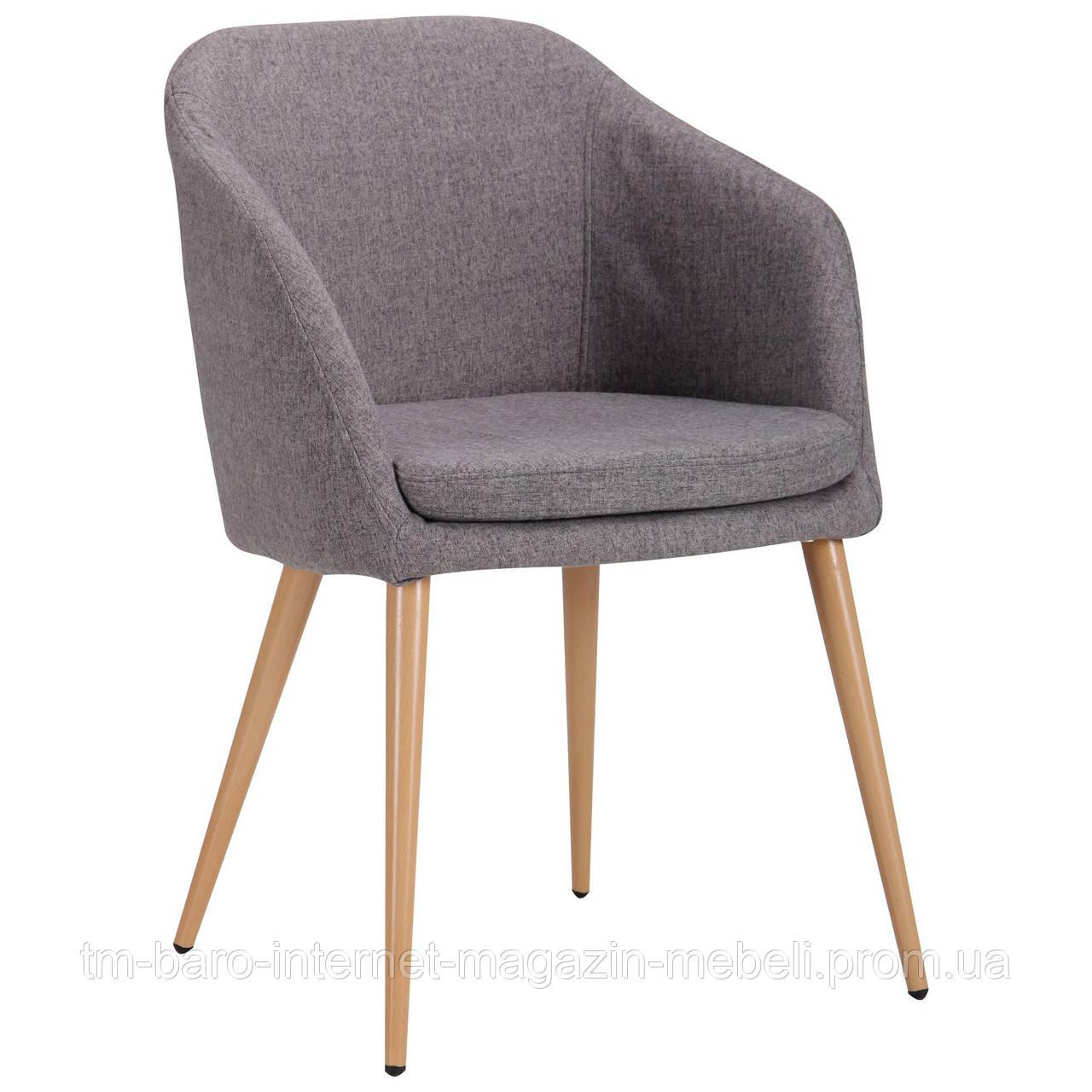 Кресло Франческо DC-1733 бук/серый