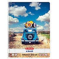 Блокнот Herlitz А4 80 листов клетка Sunny Flair Beach Car Машина