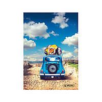 Блокнот Herlitz А5 96 листов клетка Sunny Flair Beach Car Машина