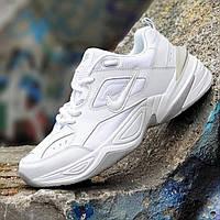 Кроссовки мужские NIKE кожаные белые ( код 371 ) - кросівки чоловічі шкіряні білі найк
