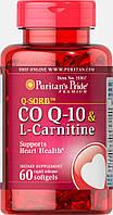Puritan's Pride Q-SORB Co Q-10 30 mg plus L-Carnitine 250 mg 60 Softgels