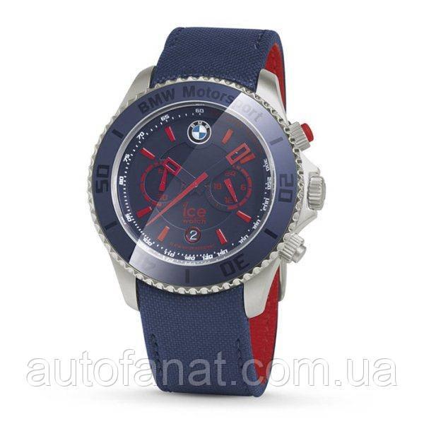Оригинальные часы BMW Motorsport ICE Watch Steel Chrono, unisex, Team Blue with M Red (80262285903)