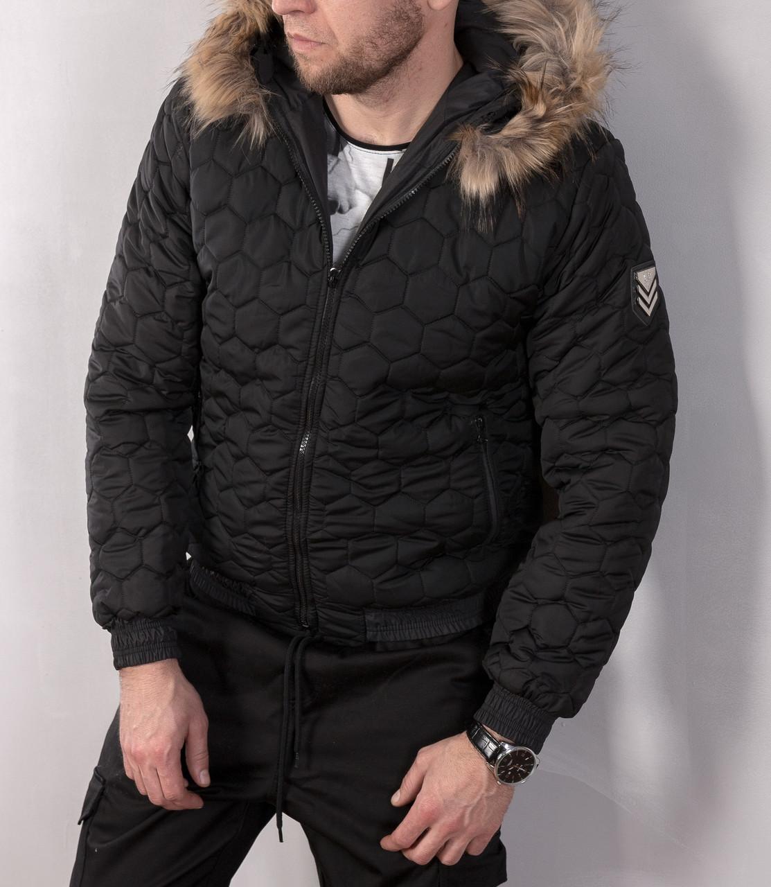 Мужская зимняя куртка на овчине