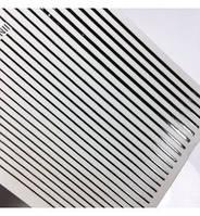 Гибкие металлизированые наклейки /ленты для дизайна (серебро)