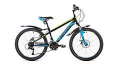 Підлітковий гірський велосипед INTENZO Dakar 24'дюйма 11рама чорно-синьо-зелений