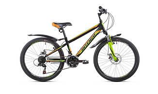 Підлітковий гірський велосипед INTENZO Dakar 24'дюйма 11рама чорно-синьо-зелений, фото 2