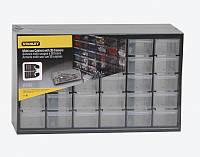 Ящик органайзер вертикальный пластмассовый 30-секционный с выдвижными отделениями