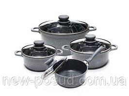 Набор посуды с мраморным покрытием 8 предметов Edenberg EB-9181