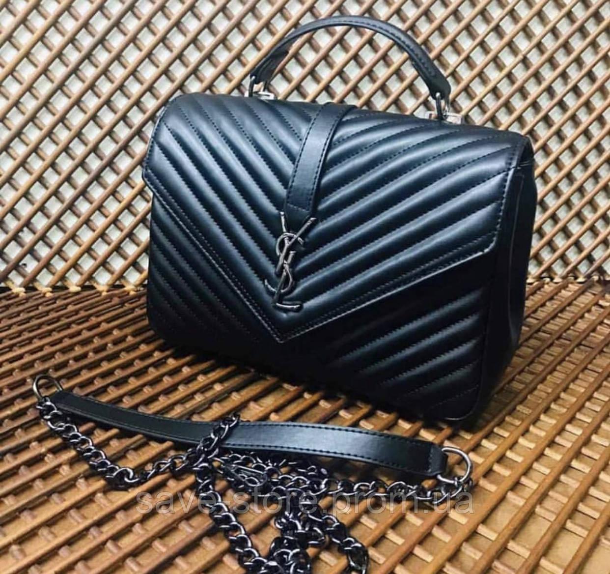 cdb8f550b0eb Женская сумка клатч YSL Yves Saint Laurent (Ив Сен Лоран),черная сумка