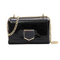 035a458ccc17 Черная лаковая сумка через плечо, Сумки женские, Чорна лакова сумка через  плече