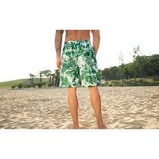 Шорты пляжные тропический принт длинные- 163-03-1, фото 3