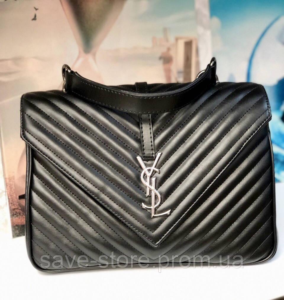 69989b0acd0a Женская сумка клатч YSL Yves Saint Laurent (Ив Сен Лоран),черная сумка, ...