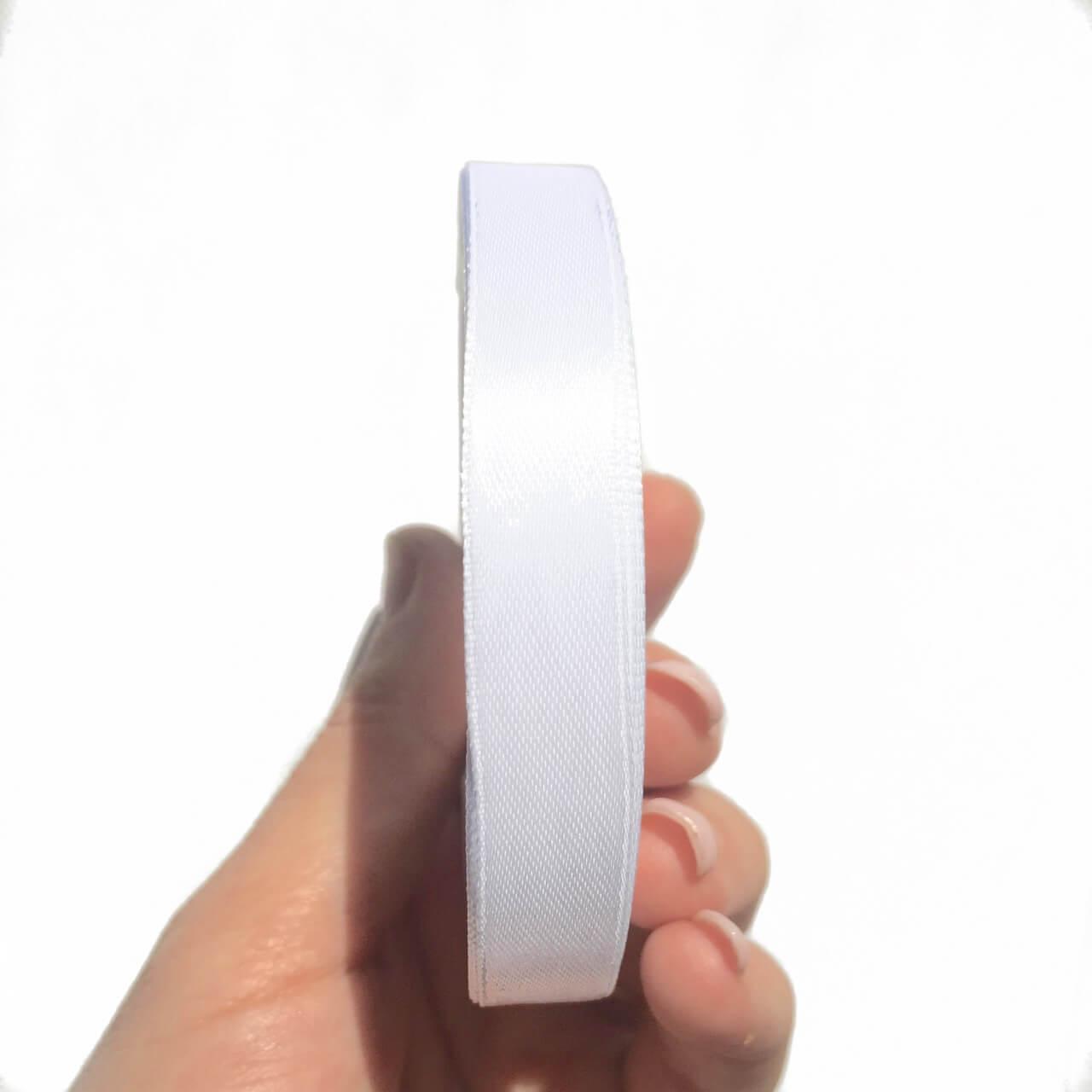 Лента атлас 1см (белая)
