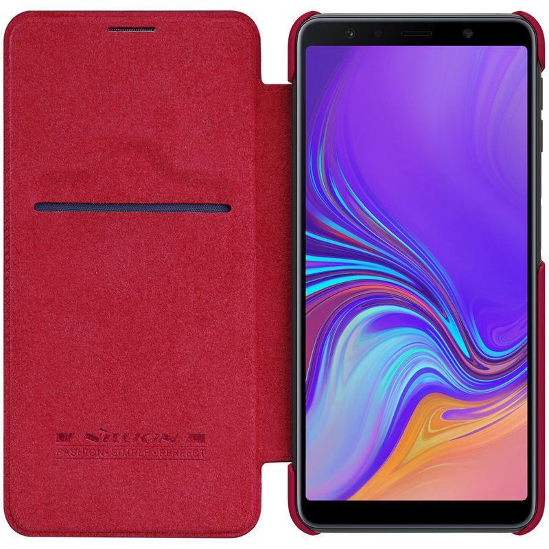 Чохол-книжка Nillkin для Samsung Galaxy A7 (2018) Qin ser. З кишенькою Червоний