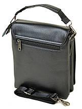 Чоловіча сумка планшет через плече позов-шкіра DR. BOND 515-2 black, фото 2