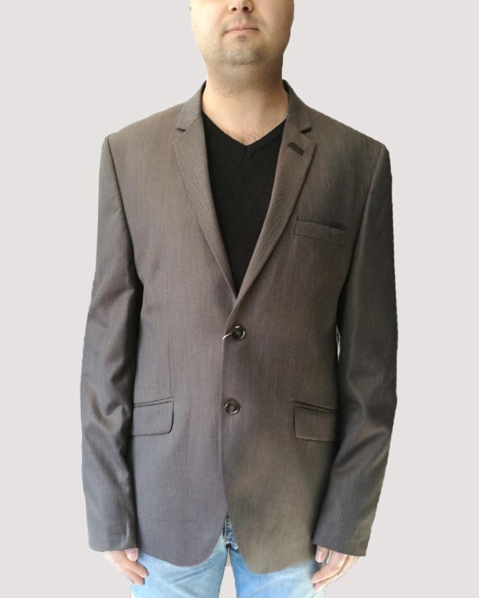Пиджак мужской Oscar Fur 2 Серо-коричневый