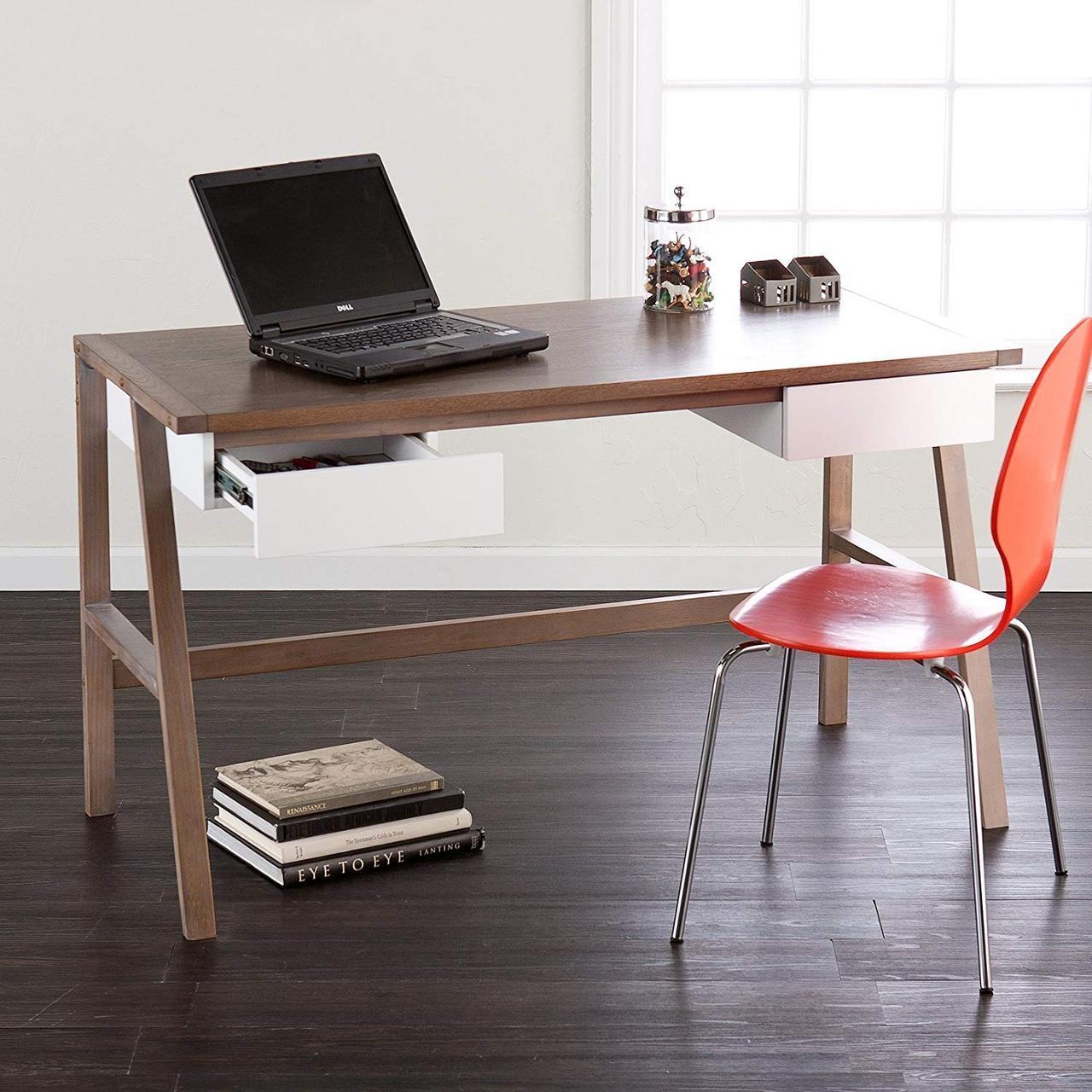 """Письменный деревянный стол""""Дубль"""" для подростка  в стиле loft"""