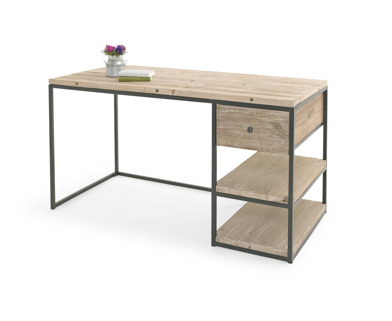 """Письменный стол""""Просто"""" для подростка из дерева в стиле loft"""