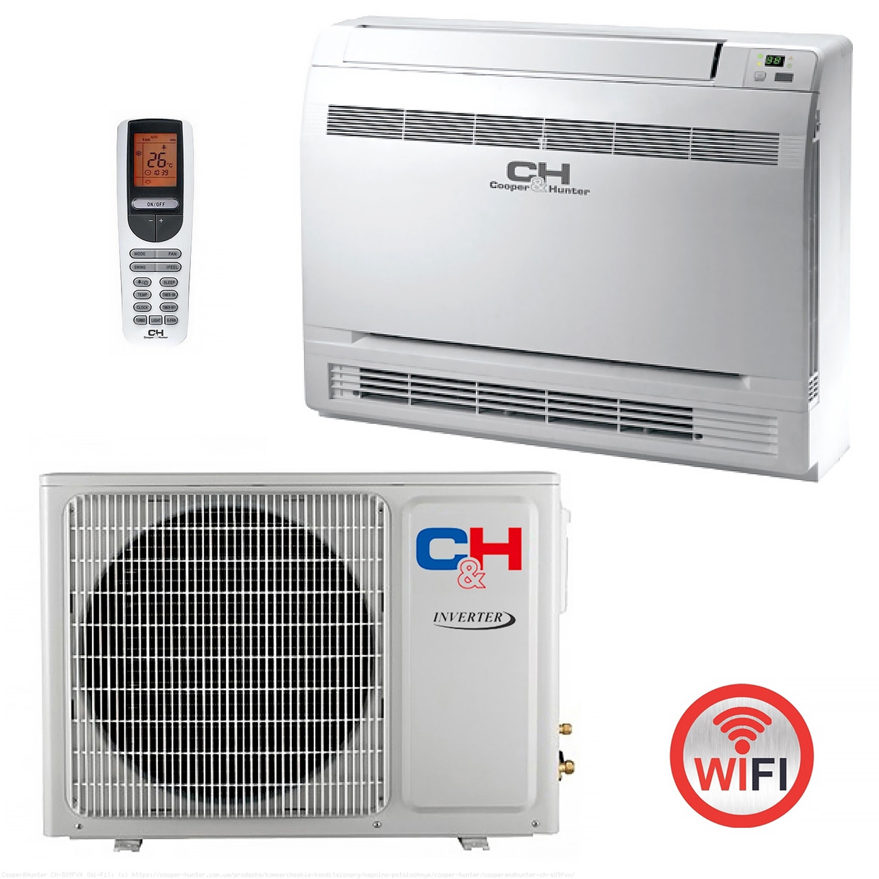 Кондиционер консольный (инверторный) напольно-потолочный Cooper&Hunter CH-S09FVX (Wi-Fi)