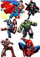"""Вафельная картинка на торт """"Мстители / Супергерои / AVENGERS / Марвел"""" А4-"""
