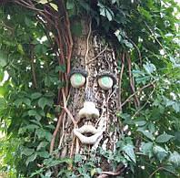 Лицо для дерева со светящимися глазами - декор для ствола , фото 1