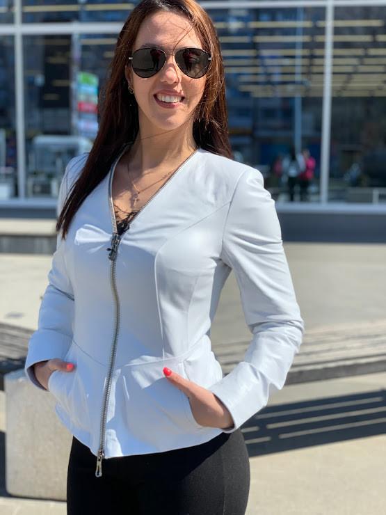 Куртка Женская, Цвет - Белый  017ДЛ