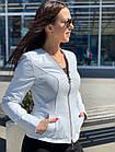 Куртка Женская, Цвет - Белый  017ДЛ, фото 6
