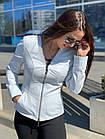 Куртка Женская, Цвет - Белый  017ДЛ, фото 7