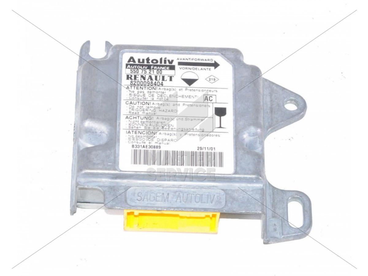 Блок управления AIRBAG для Renault Master II 1998-2010 550752100, 7700313264, 8200098404