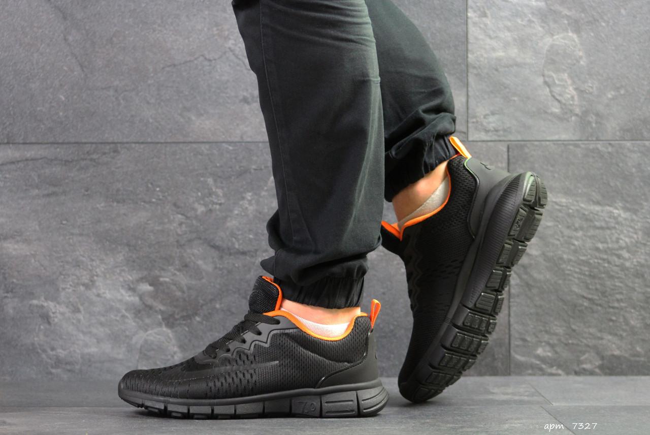 a50cb00b Мужские кроссовки в стиле Nike Free Run 7.0, черные с оранжевым - Super  Star в