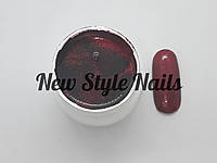 Гель-краска для ногтей UK.Nail №15 цвет красный с блестками7 грамм